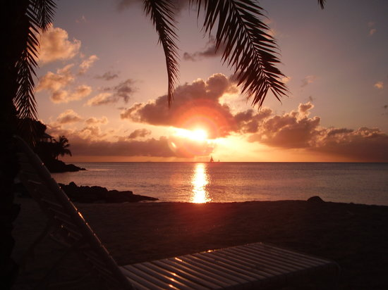 Antigua en Barbuda: Sunset from Jolly Beach