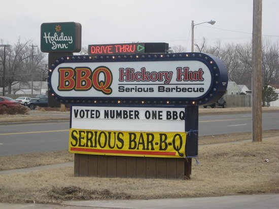 Hickory Hut Barbeque: Outside Sign