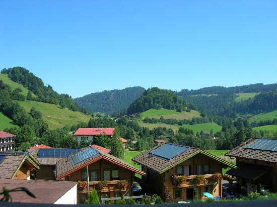 Hotel Schneeberger: View from our balcony.