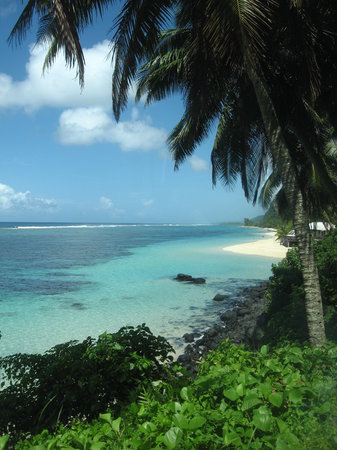 First view of Lalomanu Beach