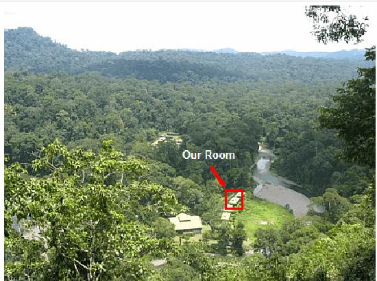 Borneo Rainforest Lodge: View of Resort from Overlook