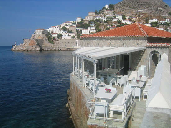 Hydra, Hellas: Waterfront dining
