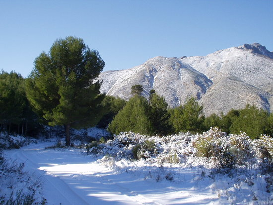 Кальп, Испания: Calpe mountain countryside winter