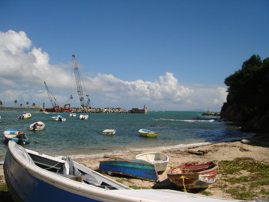 Humacao, Porto Riko: fishing village at club palma