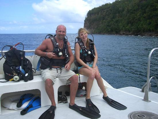 Sandals Halcyon Beach Resort: Our first Scuba Dive