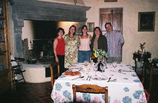 Villa Il Paradisino: Dinner at the villa