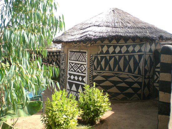 The accomodation in traditional style at Tiebele