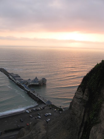 Lima, Peru: Sunset on the Pacific Ocean and Pier