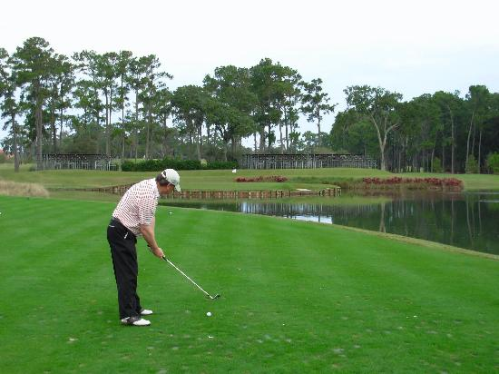 Ponte Vedra Beach, FL: The famous 17th tee shot