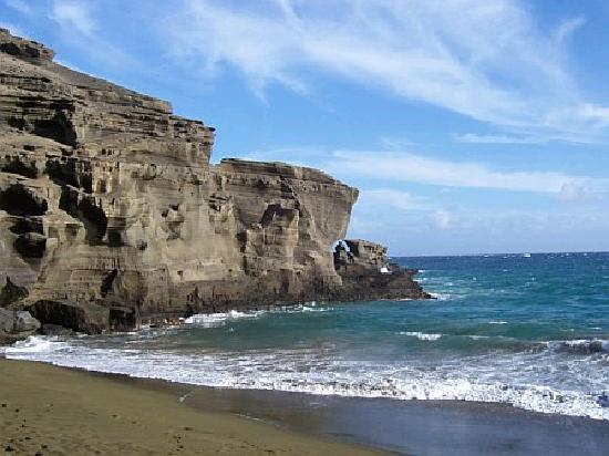 Naalehu, HI: View on Beach