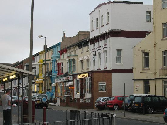Novello B&B: located on a typical central blackpool street