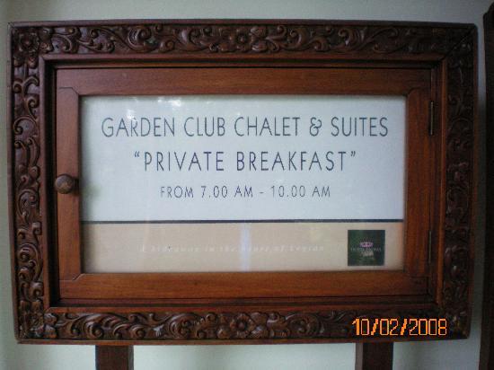 Padma Resort Legian: Club Breakfast @ Bella Rosa