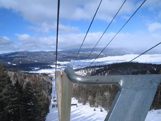Angel Fire Resort: view from the Chile Express lift