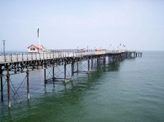 Swansea, UK : The pier, soon to be restored
