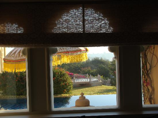The Oberoi Udaivilas: View from bedroom window