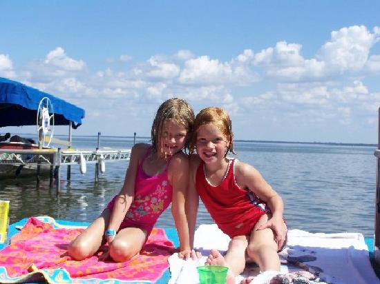 Sunny day on the beach of The Lodge on Otter Tail Lake Minnesota