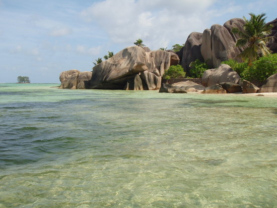 Isla La Digue, Seychelles: Taken from the water