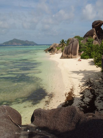 Pulau La Digue, Seychelles: Had to climb a little for this one : )