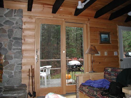 Moosehead Hills Cabins: door to deck