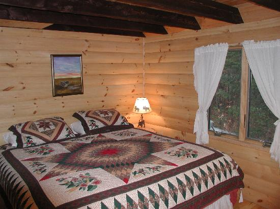 Moosehead Hills Cabins: main floor bedroom