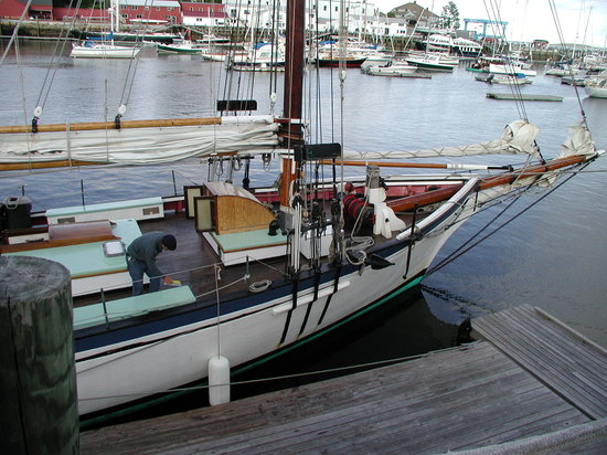 Schooner Appledore II Windjammer Cruise: before boarding
