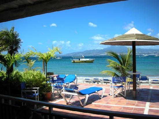 Hotel-Club Trois Ilets: vue depuis la salle de restaurant