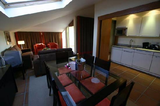 Atlantida Apartments: Upstairs Kitchen/Living Area
