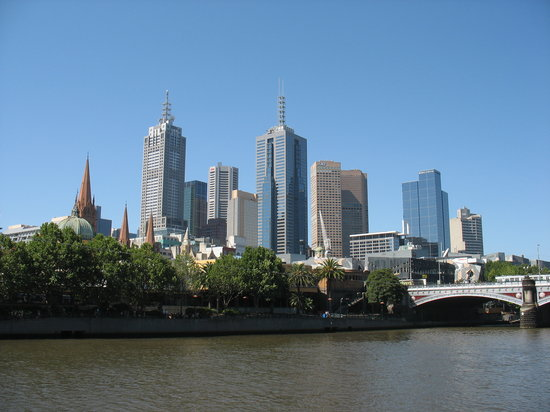 Melbourne, Australië: City Skyline