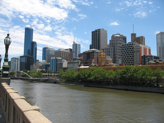 Melbourne, Australië: City and Yarra