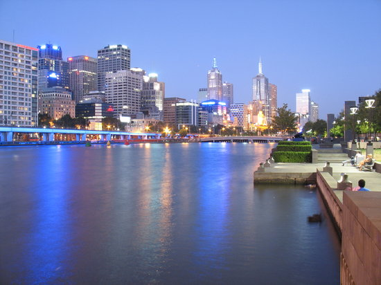 Melbourne, Australië: Yarra at Night