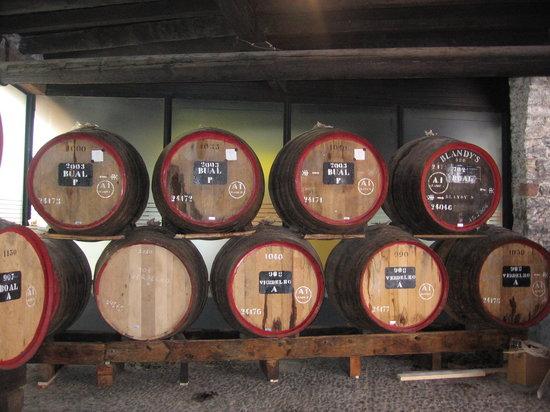 Caves Blandy : Wine aging in barrels