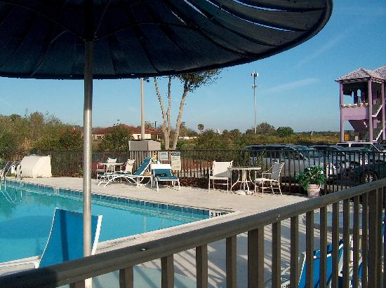 Magic Castle Inn and Suites: Closer view of the pool with loungers