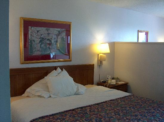 Magic Castle Inn and Suites: 6 foot bed in Mini King Suite!!