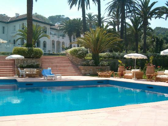 View of Villa Josephine in Tangier, Morocco, from the pool area.