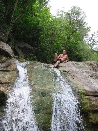 Catalonia, Spain: cascadas en rio de olot girona
