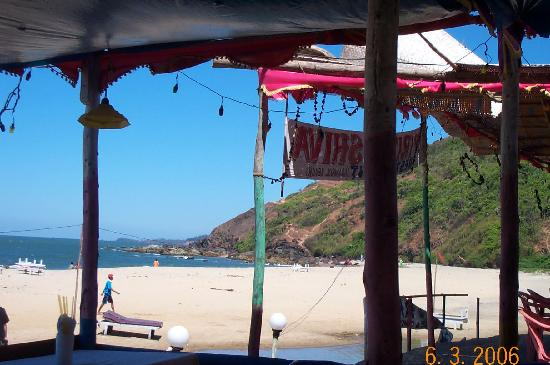 Arambol Beach: another view from bar
