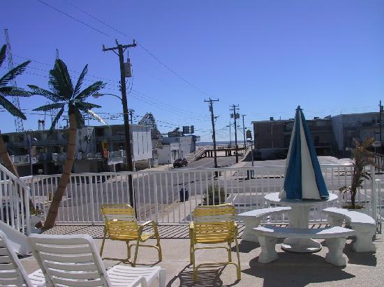 Caprice Motel: View of boardwalk from Caprice