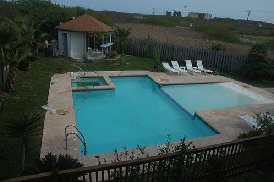 Sea Breeze Suites - pool and hot tub, viewed from balcony