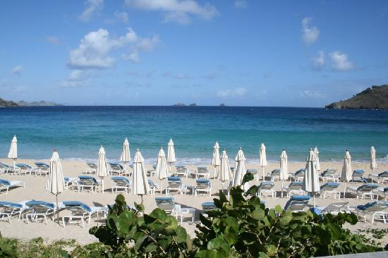 Anse des Flamands, St. Barthlemy: Spiagga dell'hotel - Anse De Flamands