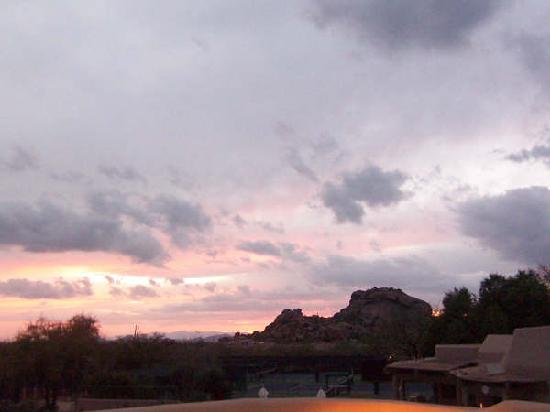 Boulders Resort & Spa, Curio Collection by Hilton: sunset from golf patio