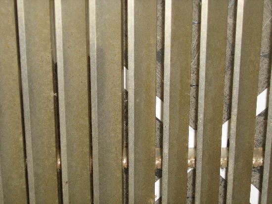 Nisku Inn & Conference Center: Air filter that hasn't been changed since 1976