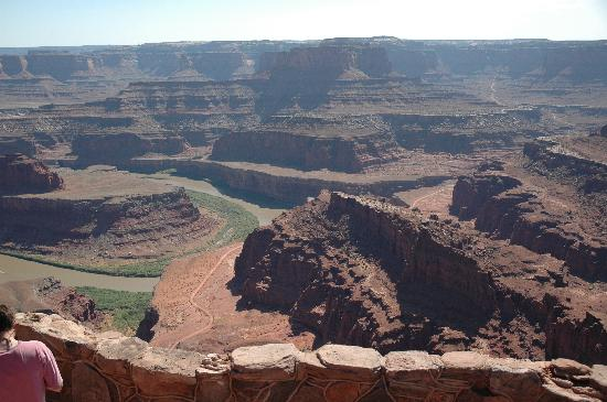 White Rim Trail: trail view from above