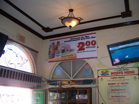 Southernmost Red Sox Bar...Lazy Gecko..