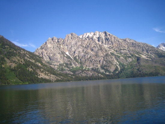 Moose, WY: 6/23/07 - View from Jenny Lake Hiker Shuttle