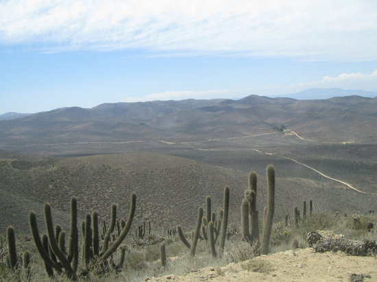 La Serena, Chile: Roads leading up to the hiking trail