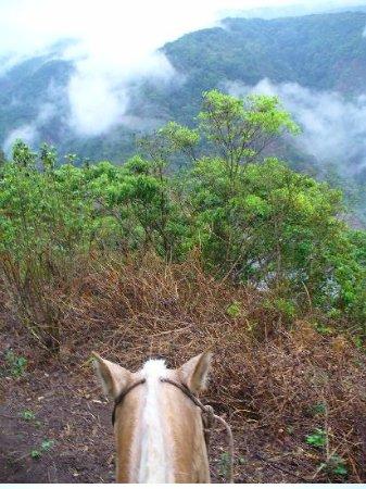 Hotel Jardines de Monteverde: Promenade a cheval dans les nuages
