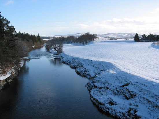 Schottisches Hochland, UK: Lower Gledfield - River Carron