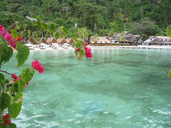 El Nido Resorts Miniloc Island: vom Wasserbungalow aus