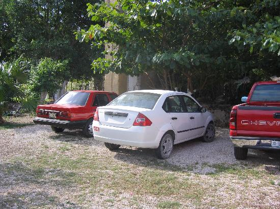 Hacienda San Pedro Nohpat: parking