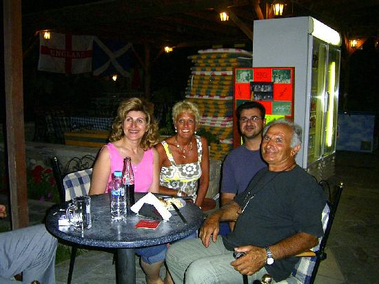 Lenaki: End of a busy Day- Steve Mum and Dad with guest